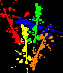Paint Splatter Coloring Pages