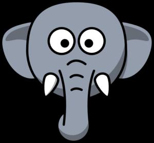 elephant head clip art at clker com vector clip art online rh clker com Elephants Holding Trunks Trunk Up Elephant Side View