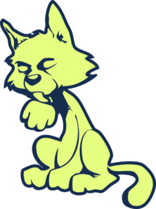 Green Cat Clip Art