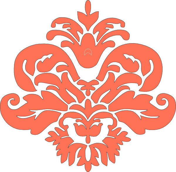 Coral Damask Clip Art at Clker.com - vector clip art ...