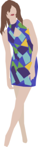 Blue Dress Clip Art