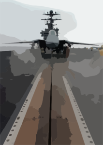 An F-14d Tomcat Assigned To The Tomcatters Of Fighter Squadron Three One (vf-31) Sits Poised For Launch On One Of Four Steam-powered Catapults Aboard The Nuclear Powered Aircraft Carrier Uss John C. Stennis (cvn 74). Clip Art