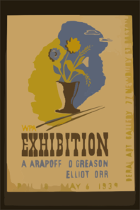 Wpa Exhibition A. Arapoff, D. Greason, Elliot, Orr. Clip Art