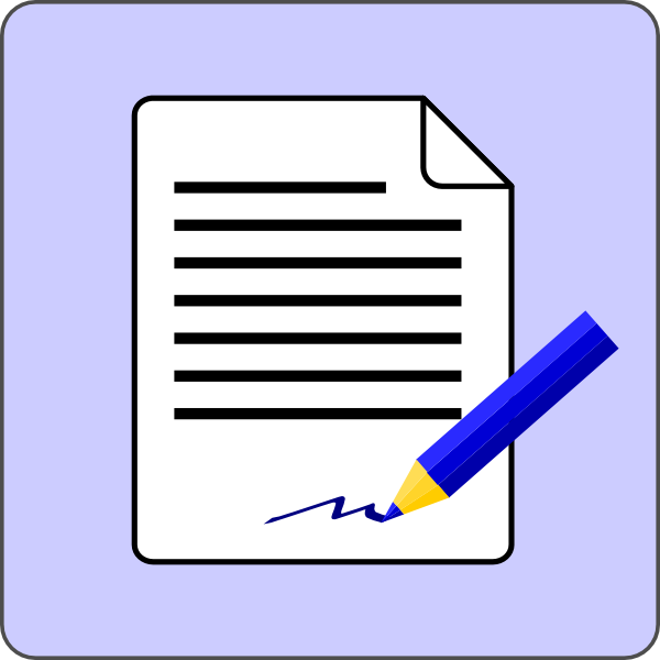 free clipart document icon - photo #9