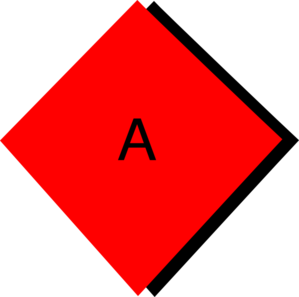 Red Diamond A Clip Art