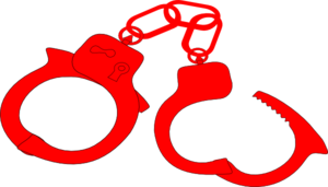 Red Handcuffs Clip Art