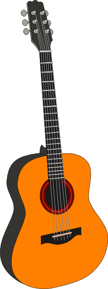 Orange Guitar Clip Art at Clker.com - vector clip art online, royalty ...