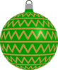 Patterned Bauble 2 (green) Clip Art