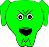 Green Angry 2 Clip Art