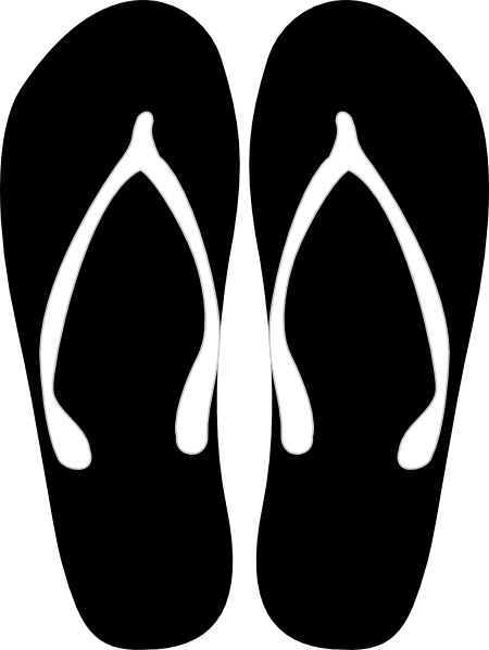 Black And White Flips Flops Clip Art at Clker.com - vector ...