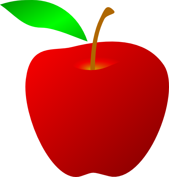 Red Apple Clip Art at Clker.com - vector clip art online ...