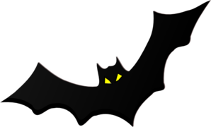 Bat With Yellow Eyes Clip Art