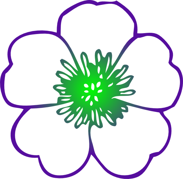 Purple Hibiscus Flower Clip Art At Clkercom Vector Clip Art