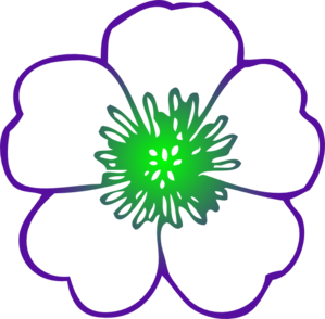 Purple Hibiscus Flower Clip Art