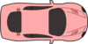 Pink Car - Top View Clip Art