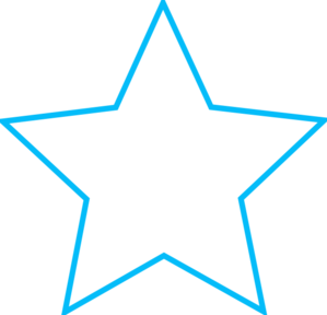 blue star outline small clip art at clker com vector clip art