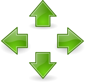 Green Arrows Clip Art