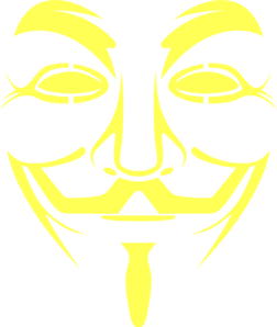 Anon Yellow Mask Clip Art