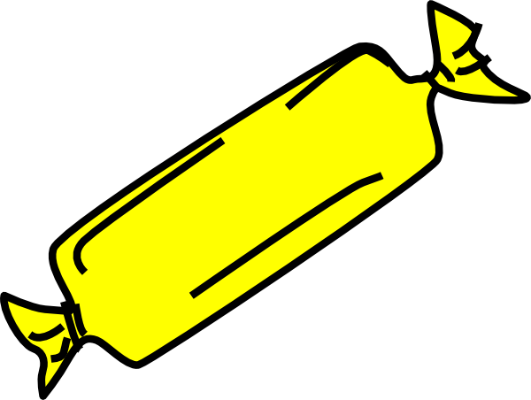 Yellow Candy Bar Clip Art at Clker.com - vector clip art online ...