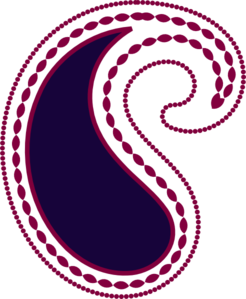 Paisley Berry Purple Clip Art