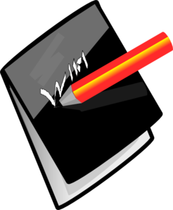 Pencil And Note Pad Clip Art
