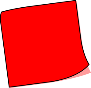 Red Sticky Note Clip Art