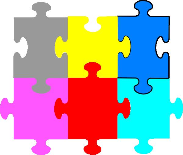 jigsaw puzzle 6 pieces clip art at clker com vector clip art rh clker com puzzle clipart for powerpoint free puzzle clipart for powerpoint free