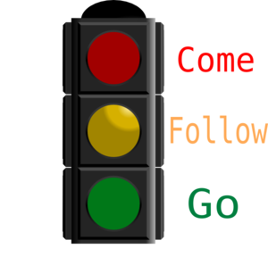 Traffic Light With Words Clip Art