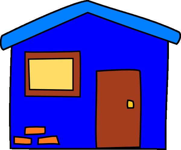 clip art blue house - photo #10