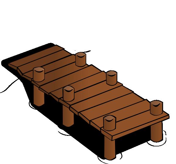 dock in brown clip art at clkercom vector clip art