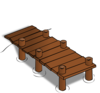 Dock In Brown Clip Art