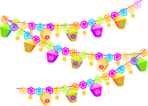 Spring Party Garland Clip Art