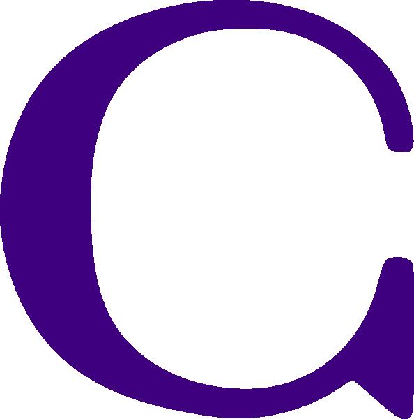 Purple C Clip Art at Clker.com - vector clip art online ...