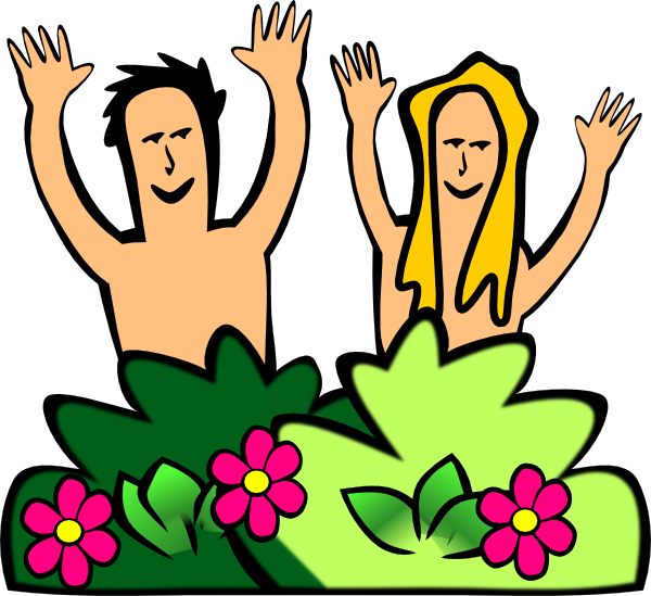 Adam & Eve Clip Art at Clker.com - vector clip art online, royalty ...