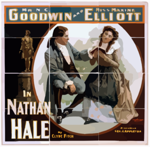 Mr. N.c. Goodwin And Miss Maxine Elliott In Nathan Hale By Clyde Fitch. Clip Art