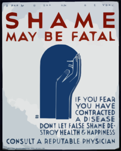Shame May Be Fatal If You Fear You Have Contracted A Disease Don T Let False Shame Destroy Health & Happiness : Consult A Reputable Physician. Clip Art
