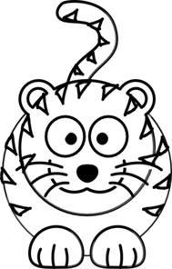 Cartoon Tiger Outline Clip Art