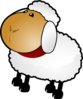 Sheep, Rotate 3 Clip Art