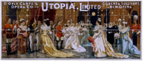 D Oyly Carte S Opera Co. In Utopia, Limited Gilbert & Sullivan S New Opera. Clip Art