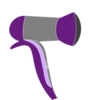 Purple Rage Blow Dryer 2 Clip Art