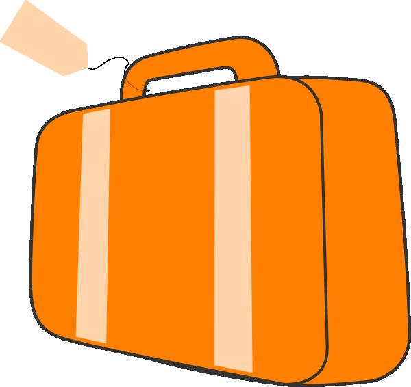 suitcase orange clip art at clker com vector clip art online rh clker com suitcase clipart open suitcase clip art free