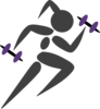 Runninggirl-purple Clip Art