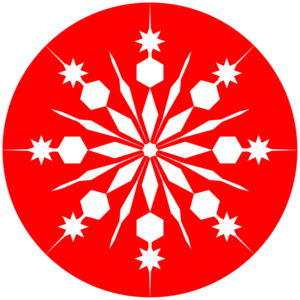 Snowflakes red. Snowflake on clip art