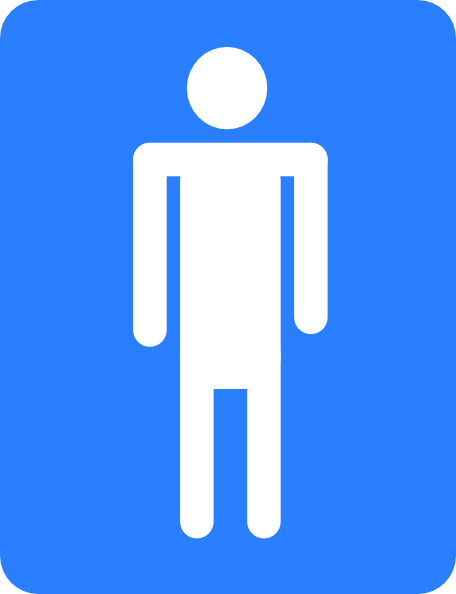 ADA GRADE 2 BRAILLE MALE TRIANGLE RESTROOM SIGN - THEEXITSTORE.COM