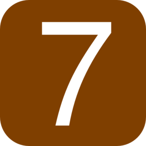 Red, Rounded, Square With Number 6 Clip Art
