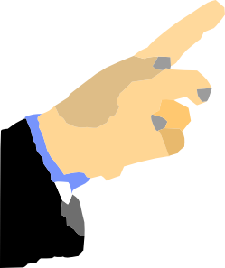 Hand Pointing Finger Clip Art