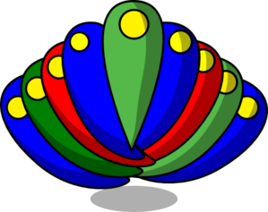 Peacock Feather Primary Colors Clip Art