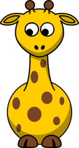 Giraffe Looking Left-down Clip Art