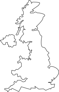 United Kingdom Outline Clip Art