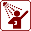 Dark Red Shower Icon Clip Art